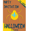 halloween vertical background flyer or invitation vector image vector image