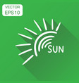 hand drawn sun icon business concept sun vector image