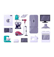household appliance color flat vector image