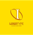 i logo template yellow background circle brand vector image vector image