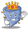 king tornado character cartoon style vector image