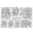 Line art set of holidays object vector image vector image