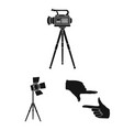 making a movie black icons in set collection for vector image vector image