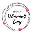 march 8 - womens day symbol greeting card template vector image vector image