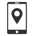 mobile gps flat icon vector image vector image
