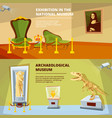 museum exhibition banners set vector image vector image