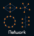 Network types vector image
