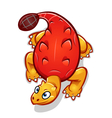 orange cartoon dinosaur vector image vector image