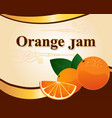 orange jam label design template vector image vector image