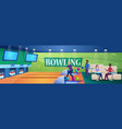 people play bowling game vector image vector image