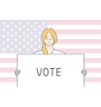 politics election usa voting concept vector image
