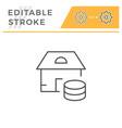 real estate service line icon vector image