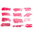 red brush stroke backgrounds paint or ink smudges vector image vector image
