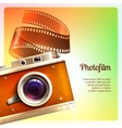 Retro Camera Background vector image