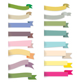 Retro ribbons banners vector image vector image