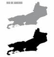rio de janeiro state silhouette maps vector image vector image