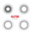 set of round halftone frames abstract vector image vector image