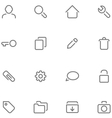 Set simple icons vector image vector image