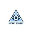 simple blue secret society logo vector image