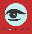 simple eye icon isolated vector image