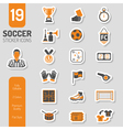 Soccer Icon Sticker Set vector image vector image