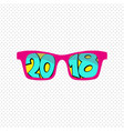 sunglasses reflection 2018 vector image vector image