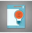 template with bulb vector image vector image