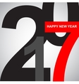 text design 2017 Happy new year 2017 vector image