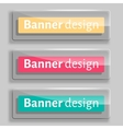 transparency banners with glass elements vector image