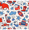 usa seamless pattern vector image vector image