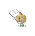 with flag marolo fruit cartoon character mascot vector image vector image