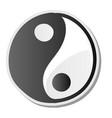 yin yang symbol harmony and balance sticker vector image