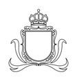 shield crown decoration royal heraldic ornament vector image