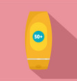 50 sun protection creme icon flat style vector image