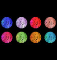 a collection of textures for ice cream balls from vector image