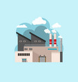 a factory flat design vector image