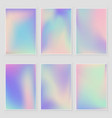 abstract blurred holographic gradient background vector image