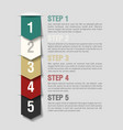 Arrows steps design template vector image vector image