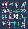 ballet dancers set vector image