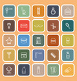 barber line flat icons on orange background vector image vector image