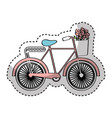 bicycle with flowers drawing vector image