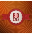 Big Sale Christmas realistic paper red Label vector image vector image