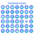 big tourism icon set trendy flat icons collection vector image vector image