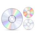blue-ray dvd or cd disc vector image vector image