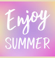 bright minimalist summer background with vector image vector image