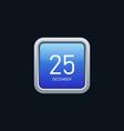calendar icon modern futuristic style vector image vector image
