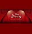 cinema theater curtains red banner background vector image vector image