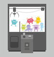Claw crane game machine vector image