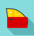 clean car door icon flat style vector image
