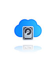 cloud data storage icon vector image vector image